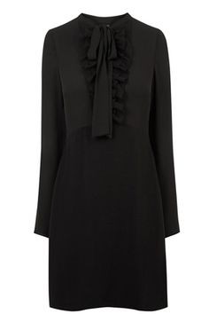 Dresses | Black BABY DOLL RUFFLE DRESS | Warehouse