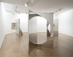 Larry Bell, Jeppe Hein at Daniel Templon (Contemporary Art Daily) Op Art, Contemporary Art Daily, Modern Art, Mirror Art, Mirrors, Mirror Ideas, Mirror Image, Web Design, Display Design