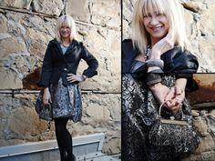 Dress, jacket, purse, earrings, necklace, and bracelet from Twigs. http;//www.twigs.ca Twigs Lookbook
