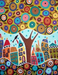 Tree Eight Houses by Karla Gerard