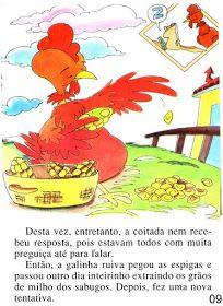 Página 9 do livro A GALINHA RUIVA Books, Bingo, Alice, Blazer, Kid Books, Story Books, Feelings Activities, Traditional Tales, Art Classroom