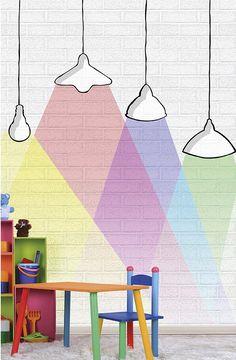 Cute Kindergarten Design Ideas Every Kids Will Love 26 Decoration Creche, Kindergarten Design, Kids Line, Mural Wall Art, Kids Wall Murals, Kids Wallpaper, Paint Designs, Kids Decor, Interior Design