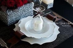 Table Decorations / Table Settingsツイードのテーブルコーディネート♡グランドハイアット東京|フローラルニューヨーク・大塚智香子のスタイルのある暮らし|25ansオンライン