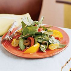 Grilled Vegetable, Arugula, and Yellow Tomato Salad by Cooking Light