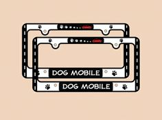 Pet-Lover License Plate Frames on sale w/ free shipping @Coupaw - many to choose from!