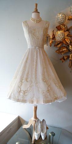 vintage dress / 50s Harvey Berin lace dress….Xtabay Vintage.