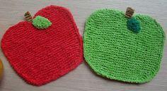 Susan B. Anderson: Apple Washcloth Free Pattern