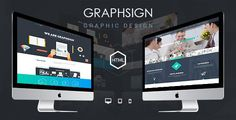 """""""Graphsign"""" – Onepage Corporate Business HTML Template. The template comes with all basic pages for an Onepage Corporate Business Website such as: About us, portfolio, pricing, team, blog, contact. It's using the power of HTML5, CSS3, Bootstrap 3 to build up the template. #HTML #Template #Flat #Design"""