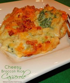 Broccoli, cheese and rice go together like hand in glove in this Cheesy Broccoli Rice Casserole topped with French fried onions for crunch. Cheesy Broccoli Rice Casserole, Vegetable Casserole, Casserole Dishes, Casserole Recipes, Cheesy Rice, Side Dish Recipes, Veggie Recipes, Vegetarian Recipes, Cooking Recipes