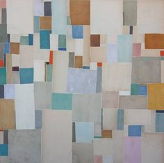 Cecil Touchon - Post Dogmatist Painting #510 - 20x20 inches - collage on canvas - 2011