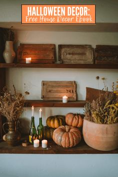FREE FALL DECOR EBOOK: Halloween Decor Ideas --> Do you love shabby chic decor?Try it for Halloween! Instead of pumpkins, spiders, and ghosts, you can try a fun, feminine look with vintage pieces. Shabby Chic Halloween, Fun Halloween Crafts, Halloween Activities, Halloween Decorations, Favorite Holiday, Holiday Fun, Holiday Ideas, Fun Fall Activities, Home Decor Inspiration