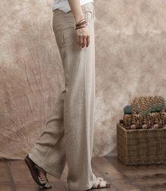 Linen Pants String Waist