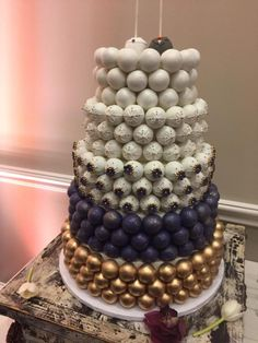 Our wedding cakeball cakes - main cake and grooms cake #delicious #diy #Easy #food #love #recipe #recipes #tutorial #yummy @mabarto - Make sure to follow cause we post alot of food recipes and DIY we post Food and drinks gifts animals and pets and sometimes art and of course Diy and crafts films music garden hair and beauty and make up health and fitness and yes we do post women's fashion sometimes and even wedding ideas travel and sport science and nature products and photography outdoors…