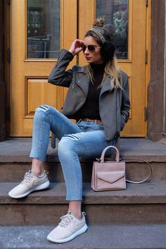 new product 5a014 cb4f8 The Athleisure trend has made it acceptable to wear tennis shoes to practically  any event or event (well, possibly except for…   Women s Casual Fashion in  ...