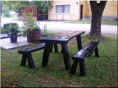 Kerti garnitúra Picnic Table, Outdoor Furniture, Outdoor Decor, Home Decor, Decoration Home, Room Decor, Home Interior Design, Picnic Tables, Backyard Furniture