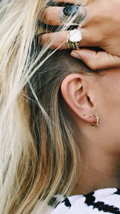 BUBBLE RING EARRING GOLDPLATED, also in silver!