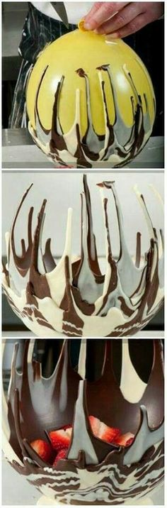 """Chocolate Bowl-- Your loved ones will surely appreciate the effort you put into this beautiful work: gratitude is healthy for you and them ~~~  http://www.elizabethandfriends.tumblr.com/  Authors of the healthy handbook, """"The Caduceus Solution"""""""