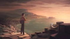 """Beyond the Sea"" is a short animated movie created by Gobelins students Marthe Delaporte, Christine Shin, Chloé Nicolay, Guillaume Dousse and Cyrille Chauvin.  Synopsis 