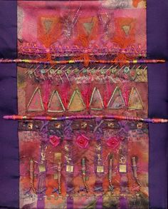 Fabric art / like this as wall hanging