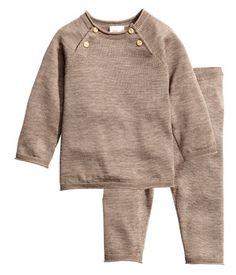Shirt und Hose aus Seidenmix   Taupe   Kinder   H&M DE