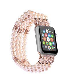 Apple Watch 1, Apple Watch Sizes, Pearl Bracelet, Beaded Bracelets, Beaded Jewelry, Apple Watch Bands Fashion, Beaded Watches, Fashion Jewelry, Women Jewelry