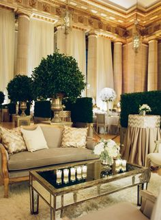 Neutral but rich wedding decor. Event Design: Ritzy Bee Events