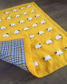 This adorable sheep blanket has fuzzy little sheep, great for a tactile experience for baby. Reverse side (optional) is a heavy flannel cotton that… blanket Reversible Sheep Baby Blanket, Handknit, Fuzzy Sheep, Flannel on Reverse (Optional) 3 Sizes Baby Knitting Patterns, Baby Patterns, Embroidery Patterns, Hand Knitting, Sewing Patterns, Crochet Patterns, Knitting Machine, Blanket Patterns, Sewing Ideas
