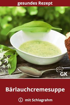 Bärlauchcremesuppe A # wild garlic cream soup is hearty, has a fresh aroma. The in spring is highly recommended when the wild garlic is to be harvested. Authentic Mexican Recipes, Mexican Food Recipes, Vegetarian Recipes, Garlic Soup, Wild Garlic, Garlic Recipes, Chicken Recipes, Pasta Recipes, Cream Soup Recipes