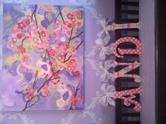 GLITTER and SPARKLE WOOD wall letters name sign by acharmedlifeinc, $15.50
