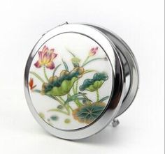 make-up-Werkzeuge manuelle falten kosmetikspiegel größe lotus teich kreative kunsthandwerk spiegel