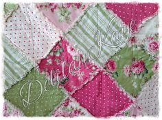 Rag Quilt  Queen Size  Shabby Barefoot Roses by DelilahKaye, $340.00