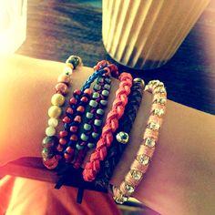 My handmade bracelets #bracelet #diy #handmade