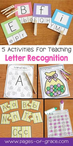 Are you looking for some great activities for teaching letter recognition? Help your students master uppercase and lowercase letters with this activity packet. Kids practice identifying letters with 3 engaging worksheets and 2 fun center activities. Alphabet Kindergarten, Learning The Alphabet, Kindergarten Literacy, Preschool Learning, Fun Learning, Teaching Letter Recognition, Teaching Letters, Preschool Letters, Letter Tracing