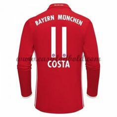 Fodboldtrøjer Bundesliga Bayern Munich 2016-17 Costa 11 Hjemmetrøje Langærmede
