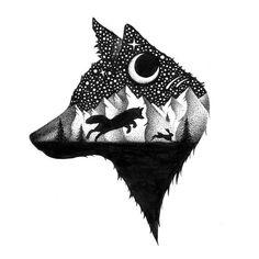 Wolf Tattoos, Nature Tattoos, Animal Tattoos, Body Art Tattoos, Pencil Art Drawings, Animal Drawings, Tattoo Drawings, Art Sketches, Fuchs Tattoo