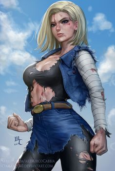 Android 18, Mirco Cabbia on ArtStation at https://www.artstation.com/artwork/JRkvD - Visit now for 3D Dragon Ball Z compression shirts now on sale! #dragonball #dbz #dragonballsuper