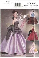 Gene Gowns and Dress Circa 1958 Styles Vogue 615 / 7566