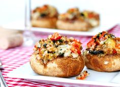 Bacon and Veggie Stuffed Mushrooms | Coupon Clipping Cook