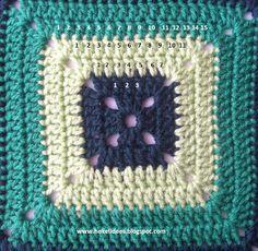 Hekel Idees: Hekel Tutoriaal: Soliede Vierkant Afrikaans, Chalk Paint, Crochet Hooks, Crochet Projects, Free Pattern, Crochet Patterns, Blanket, Knitting, Crocheting