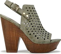 G BY GUESS Women's Shoes in Olive Color. Hit the right style mark in the Shawty Peep-Toe Booties from G by Guess. #GBYGUESS #olive #shoes #fashion #style