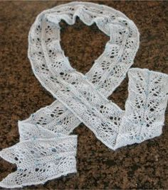 Entire twin leaf beaded scarf! Why is this knitted--I'd love to crochet something like this!