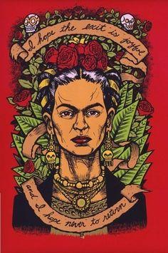 Frida Kahlo Last Words 1 limited edition fine art print. $20.00, via Etsy.