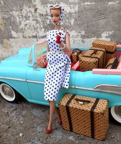 Tiffany Barbie car