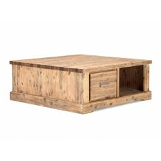 přírodní konferenční stolek z masivu, dřevěný masivní konferenční stolek, koloniální masivní nábytek přírodní, přírodní dřevěný nábytek do obývacího pokoje