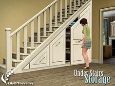 Sims 3 Download: Lilly of the valley under stair storage