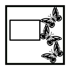 Butterfly Border Scrapbooking Die Cut Overlay