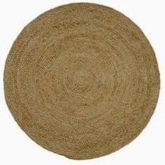 5' round natural fiber rug - Google Search
