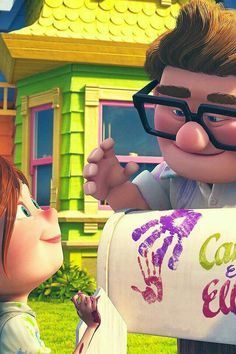 Resultado de imagem para ellie and carl mailbox Up Pixar, Disney Pixar Movies, Disney And Dreamworks, Disney Cartoons, Disney Up, Cute Disney Wallpaper, Wallpaper Iphone Disney, Cute Cartoon Wallpapers, Up Carl Y Ellie