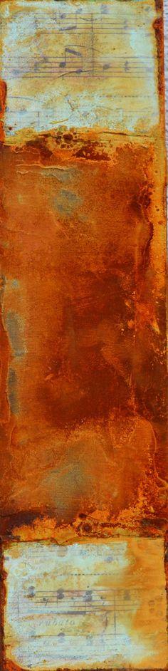 Patina Holz rost auf holz 3 20x20 holzkörper purist papier rost patina