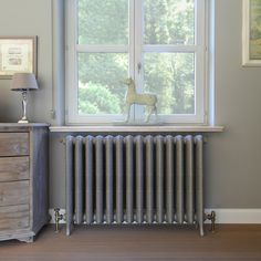 Painted Radiator, Aqua, Home Salon, Radiator Cover, Old Houses, Nook, Sweet Home, Home Appliances, Windows